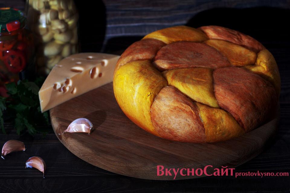 """""""Мраморный"""" хлеб в мультиварке"""