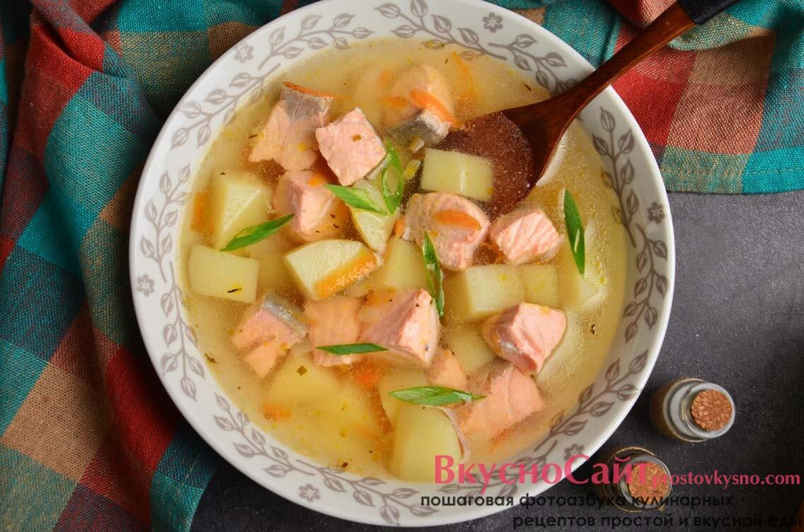 Рыбный суп с семгой в мультиварке