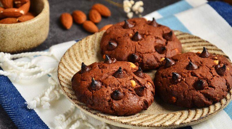 Шоколадное печенье с арахисовой пастой