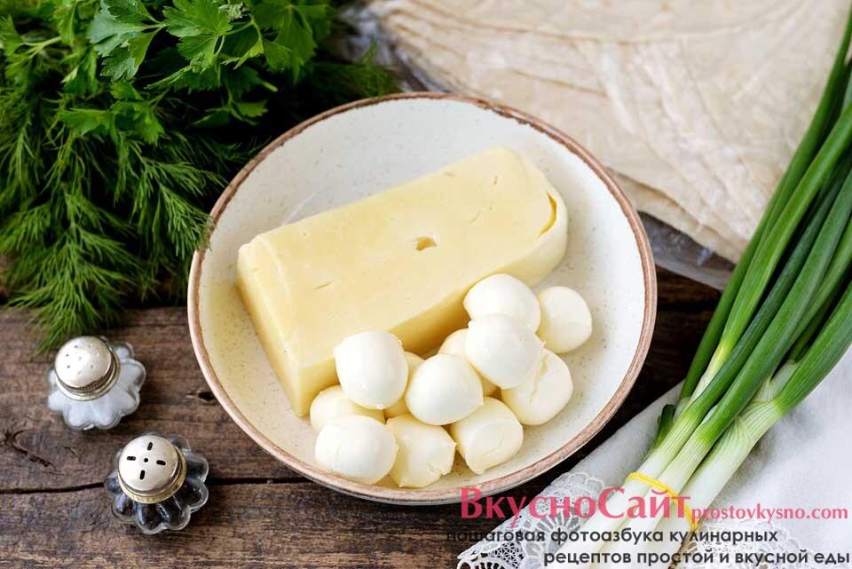 для приготовления сулугуни с зеленью в лаваше на сковороде-гриль мне нужны такие ингредиенты