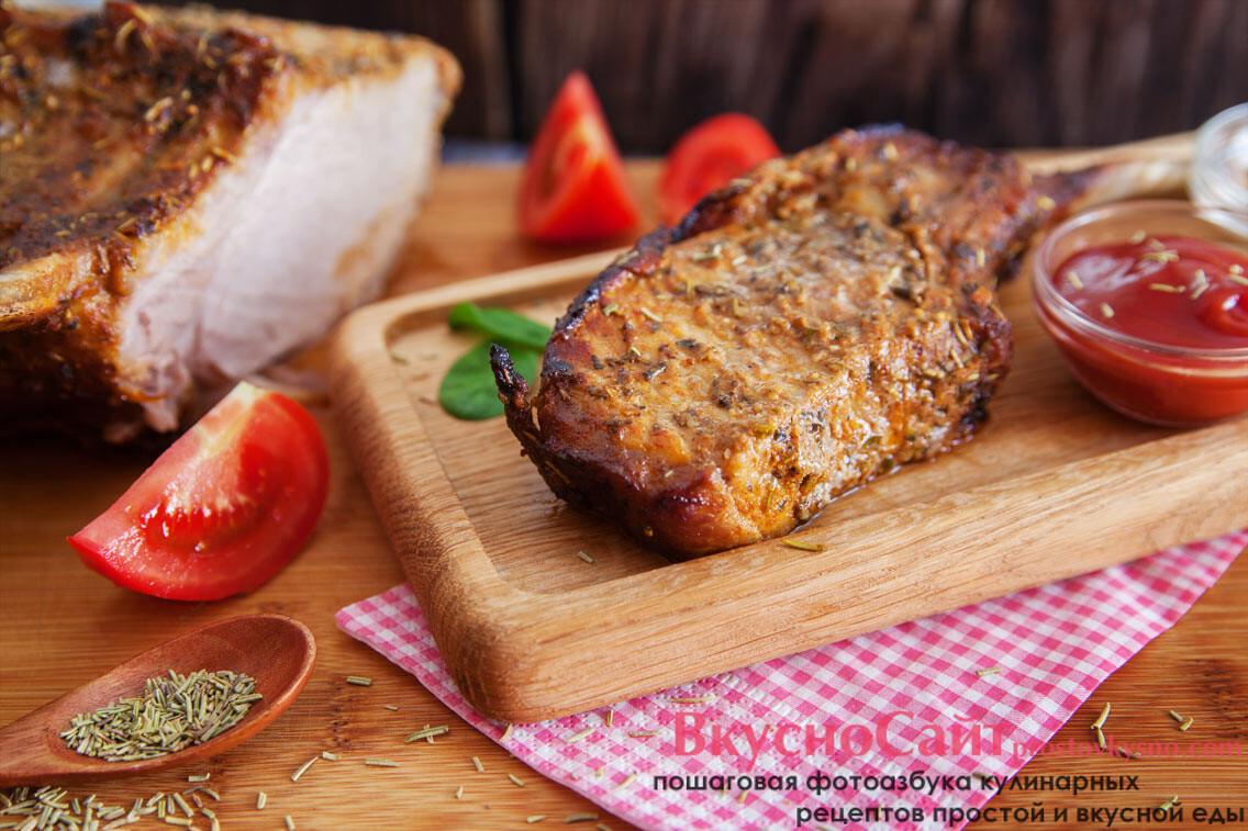 Свиное каре запечённое в духовке простой рецепт