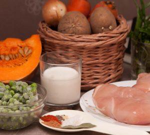 Для приготовления супа-пюре мне понадобятся такие продукты