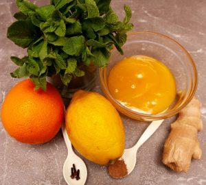 Ингредиенты для лимонада с имбирем