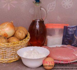 для приготовления картопляников мне понадобятся следующие ингредиенты