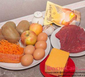 для приготовления салата Малахитовый браслет вам понадобятся следующие ингредиенты