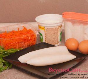 для приготовления салата я буду использовать следующий набор продуктов