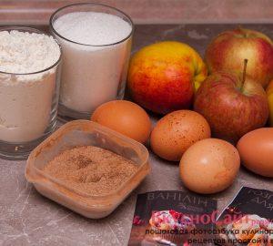 мне понадобятся следующие продукты для приготовления шарлотки с яблоками в мультиварке