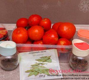 для приготовления томатного сока мне понадобится следующие ингредиенты